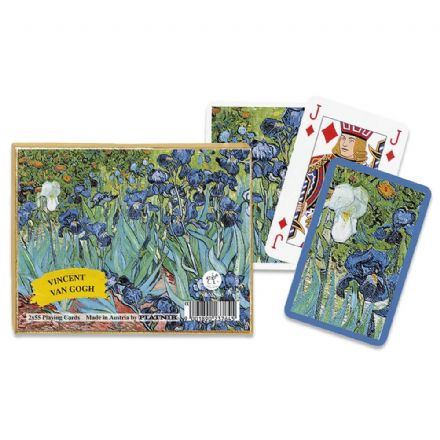 Piatnik Vincent Van Gogh Iris Bridge Set of 2 Packs of Playing Cards